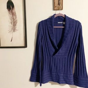 Guinevere Anthropologie brand shawl neck sweater